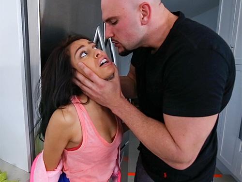 Kira Adams gets a huge facial after rough sex