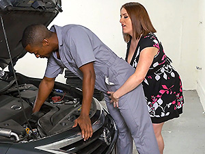 Milf Bangs Mechanics For Free Car Service image 1