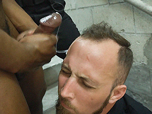 Fucking the white police with some chocolate dick image 6